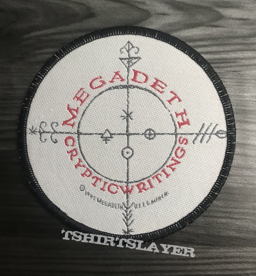 Vintage Megadeth Cryptic Writings Woven Patch