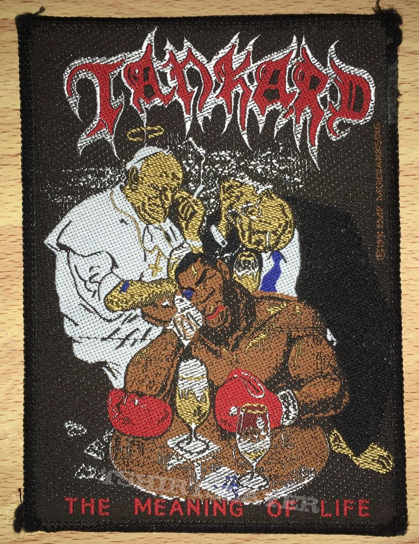 Vintage Tankard The Meaning Of Life Woven Patch