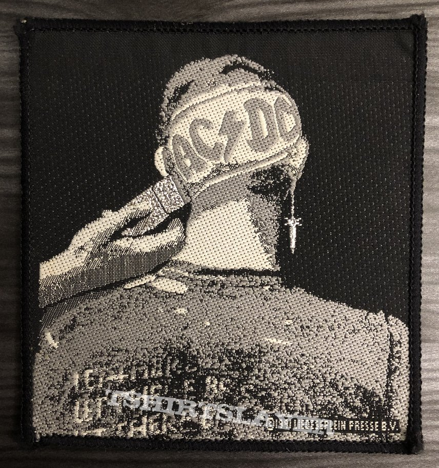 Vintage AC/DC Clipped Woven Patch