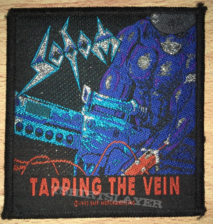 Vintage Sodom Tapping The Vein Woven Patch