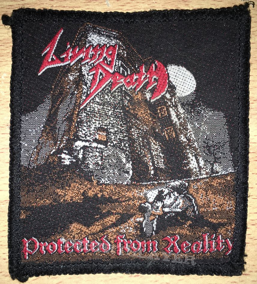 Vintage Living Death Protected From Reality Woven Patch