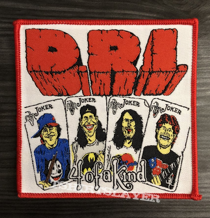 D.R.I. Four Of A Kind Woven Patch