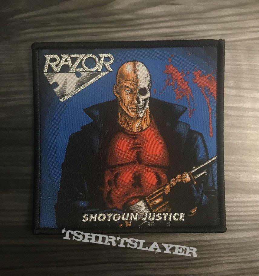 Razor Shotgun Justice Woven Patch