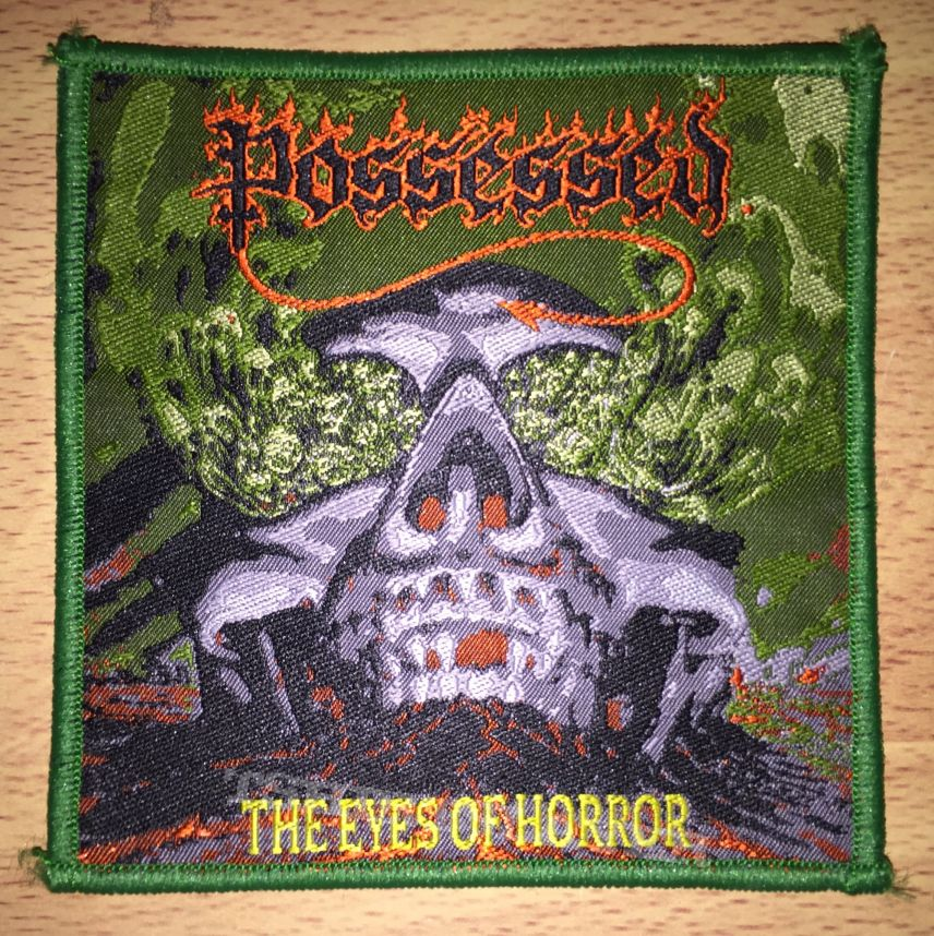 Possessed The Eyes Of Horror Woven Patch
