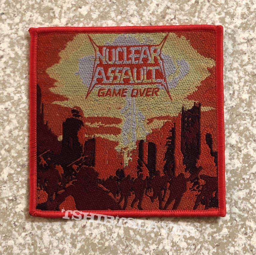 Nuclear Assault Game Over Woven Patch (Red Border)