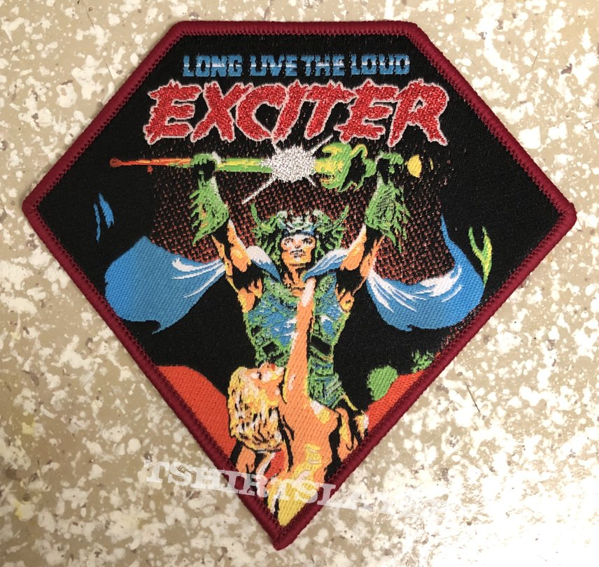 Exciter Long Live The Loud Woven Patch (Red Border)
