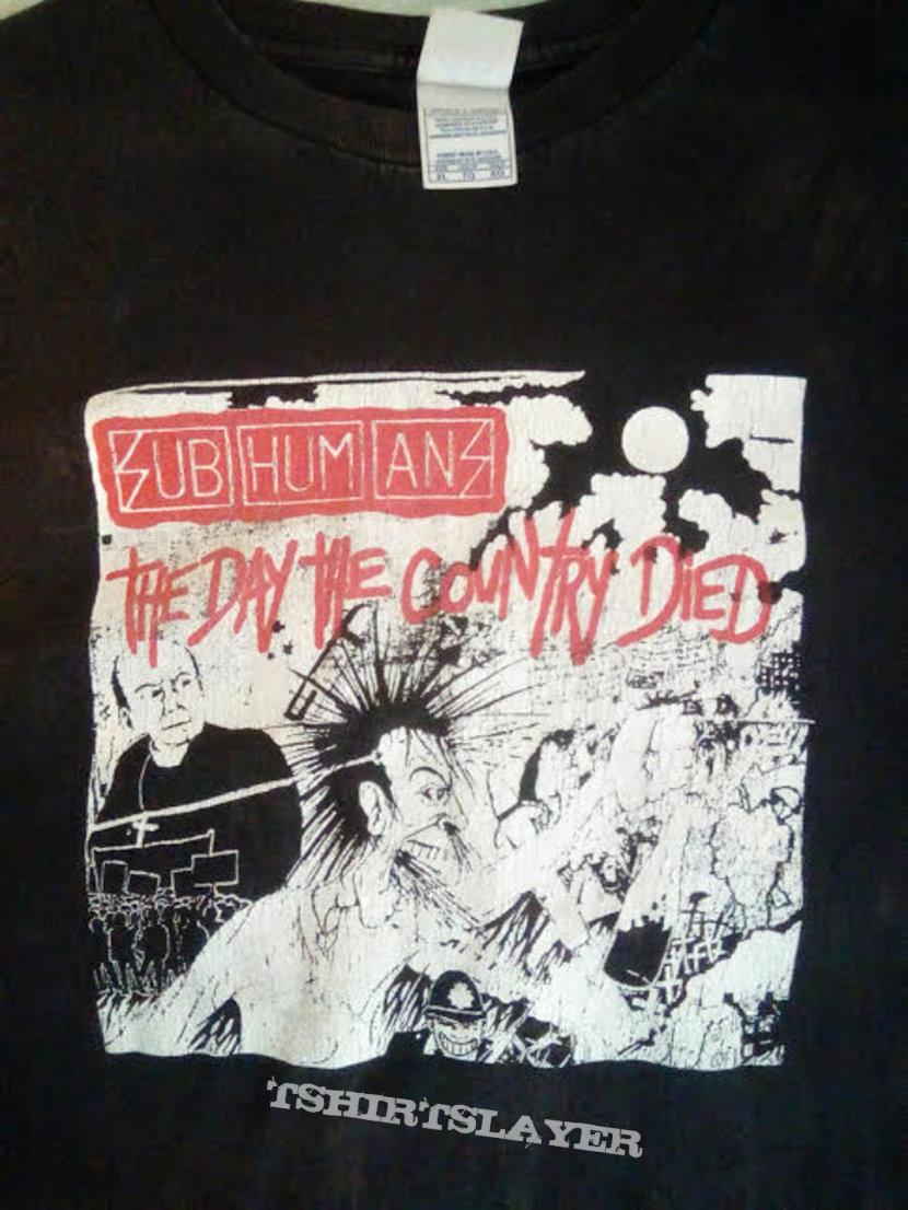 Subhumans black t-shirt