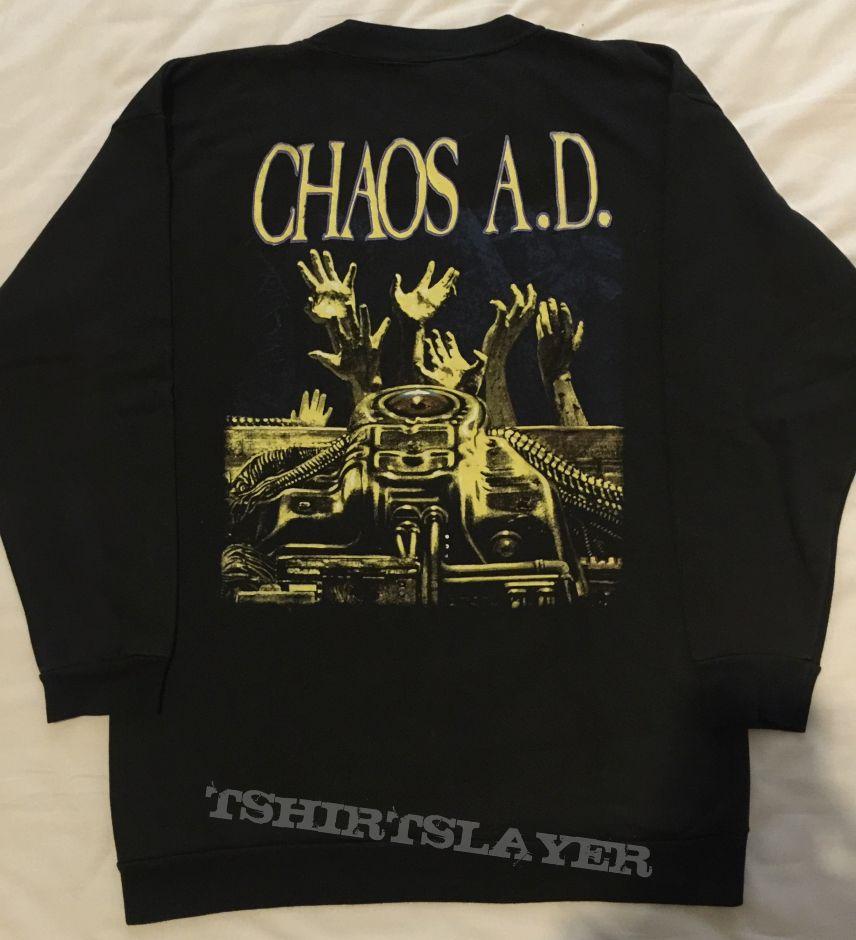 Sepultura - Chaos AD, Crew Neck, Blue Grape 1993