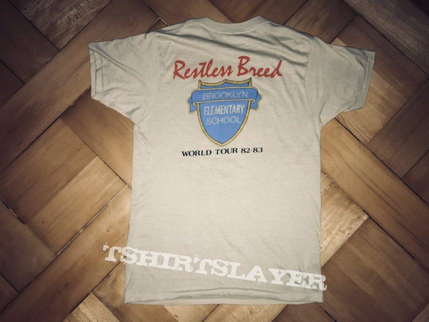 """Riot """"Restless Breed"""" World Tour '83 - '84 shirt (Original)"""