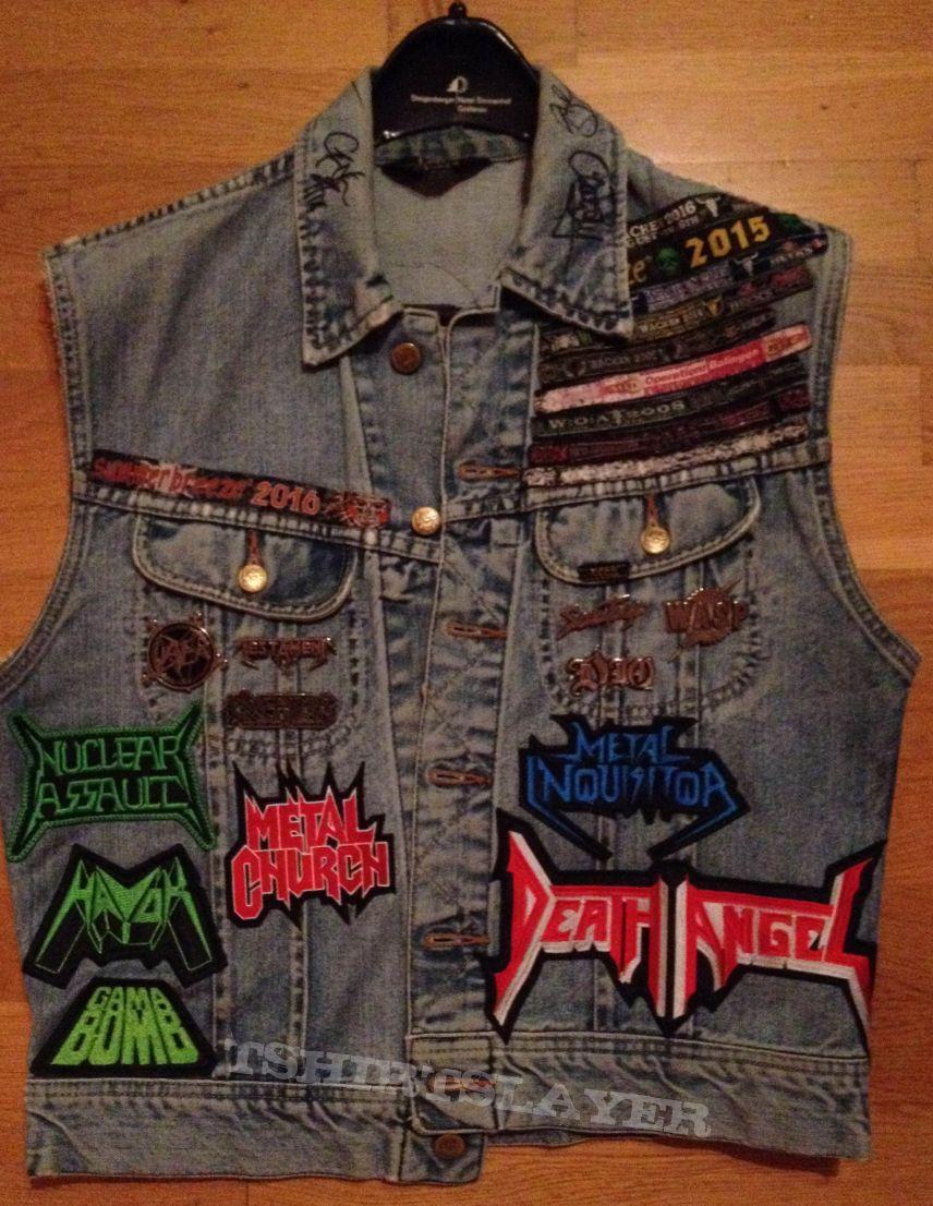 battle jacket DIO headlined - slayer-wacken-kreator custom patch