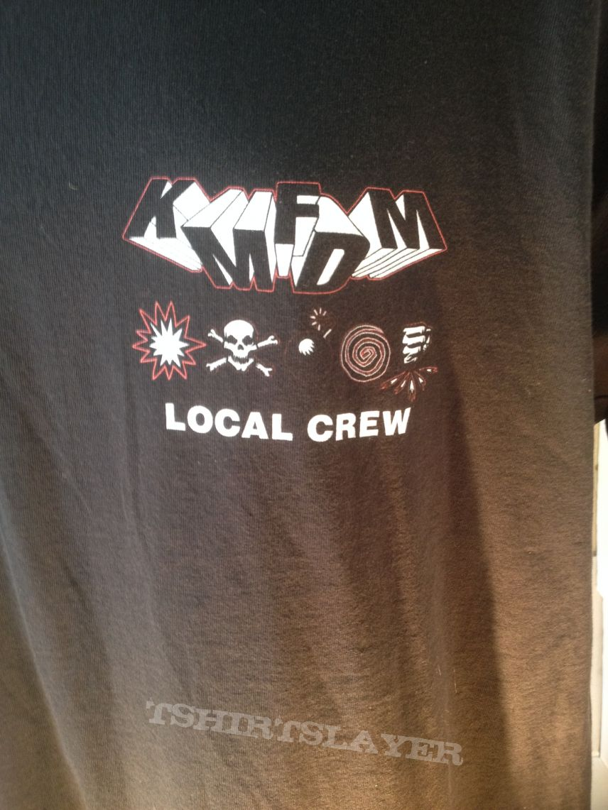 Kmfdm Crew Shirt Symbols Tour Tshirtslayer Tshirt And