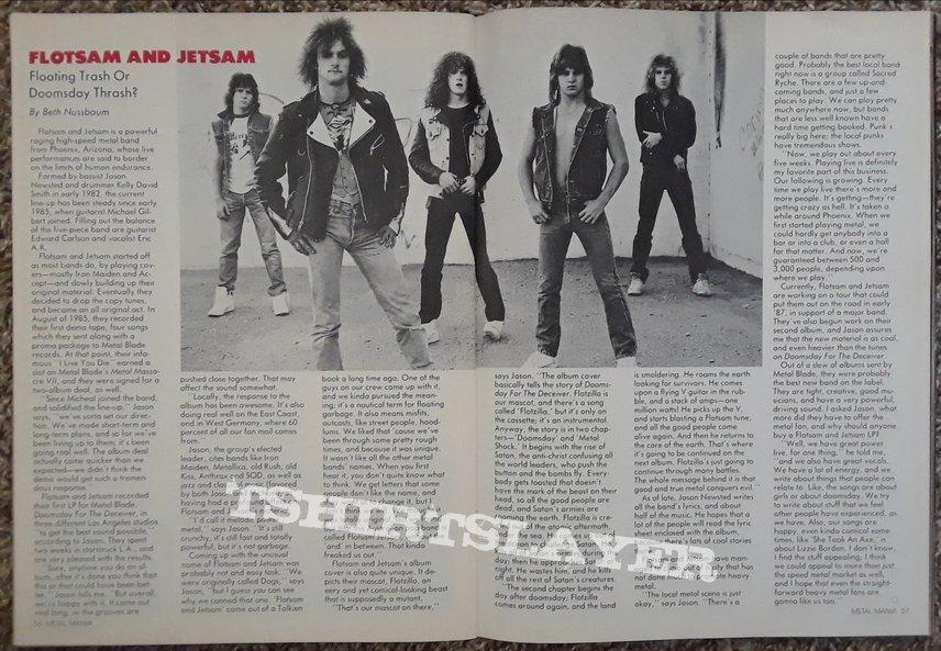 Flotsam & Jetsam- posters/press