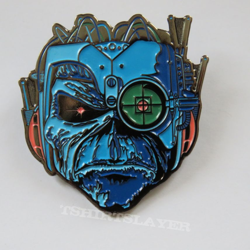 Iron Maiden - Somwhere In Time Pin / Badge