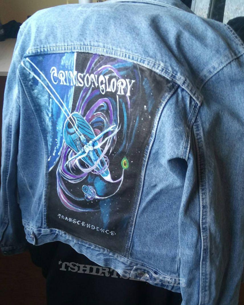 Crimson Glory hand painted denim jacket