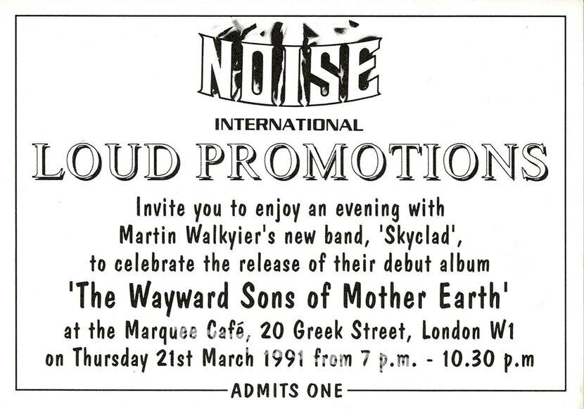 Skyclad Noise company invitations