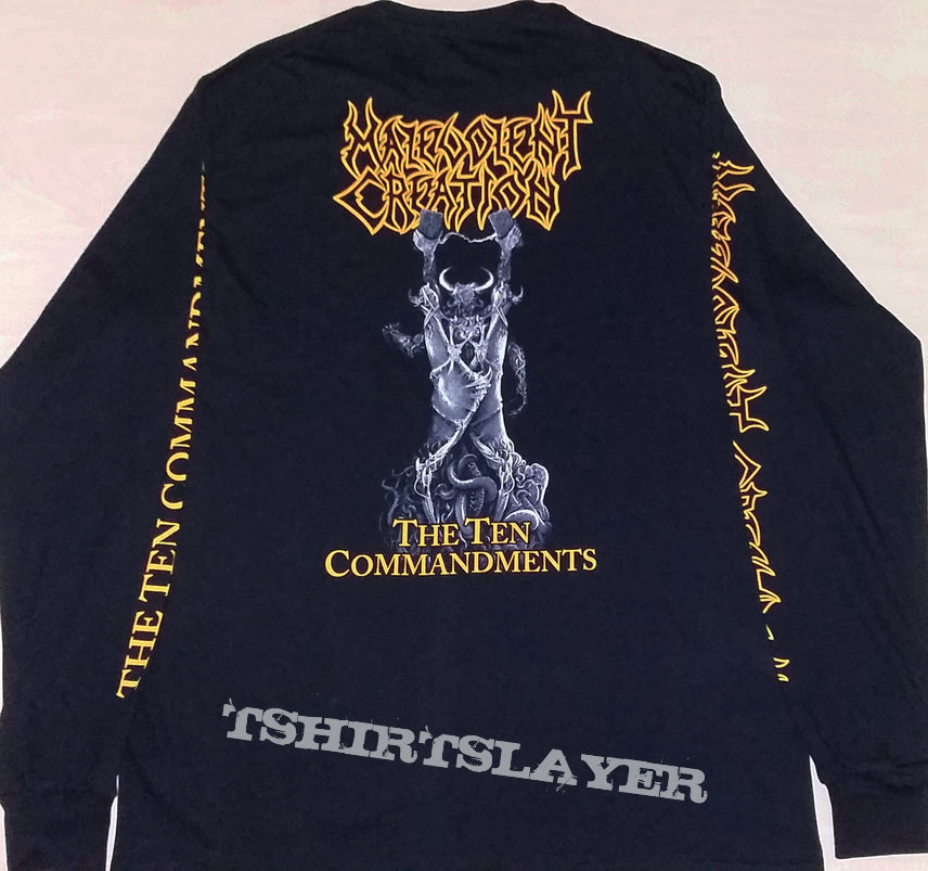 "46. Malevolent Creation ""The Ten Commandments"" Long Sleeve"