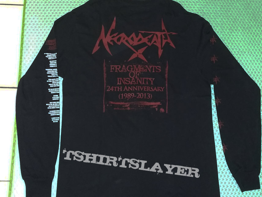 "02. Necrodeath ""Fragments of Insanity"" Long Sleeve"