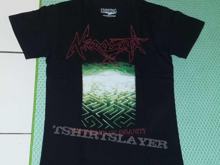 """01. Necrodeath """"Fragments of Insanity"""" T-shirt"""