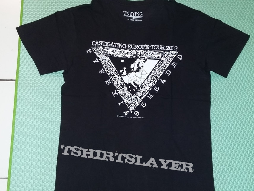 "03. Pyrexia & Beheaded ""Castigating Europe Tour 2013"" T-shirt (black)"