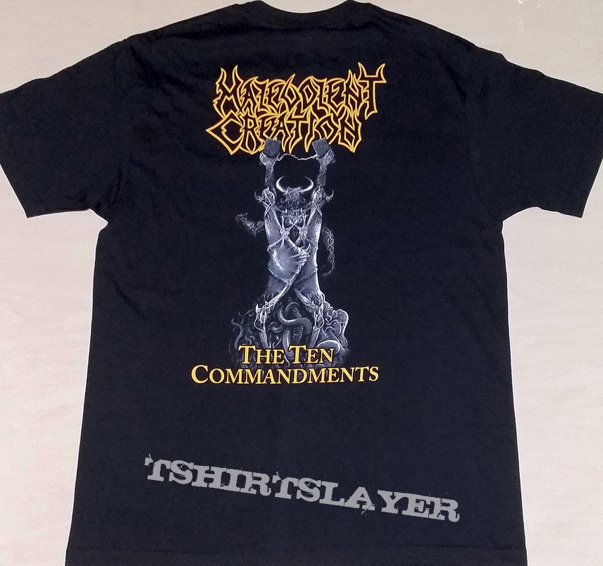 """45. Malevolent Creation """"The Ten Commandments"""" T-shirt"""