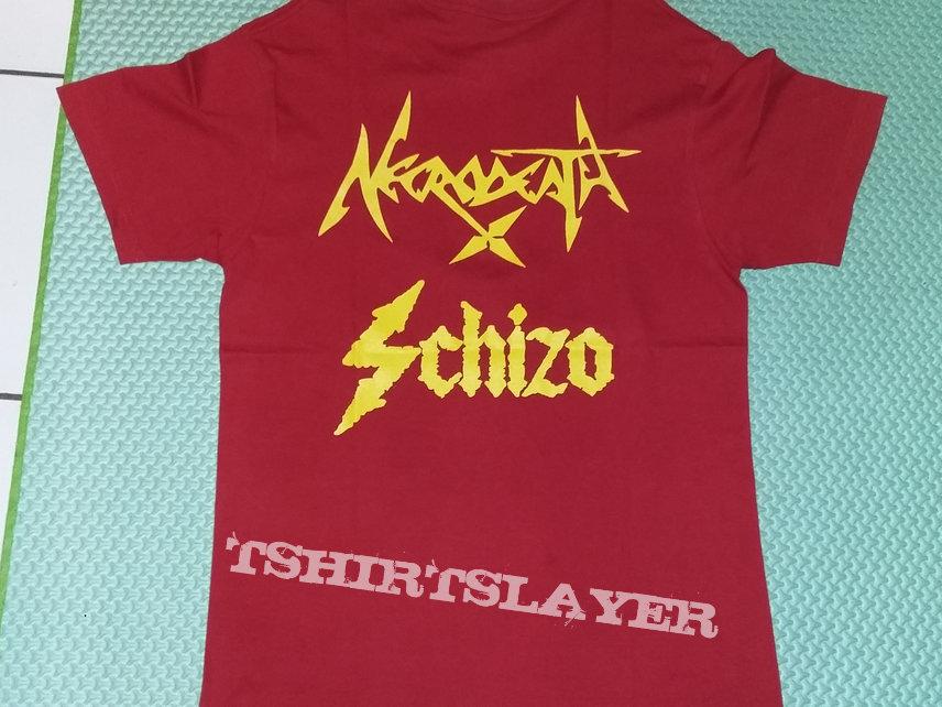 """10. Necrodeath & Schizo """"Mondocane"""" T-shirt (red)"""