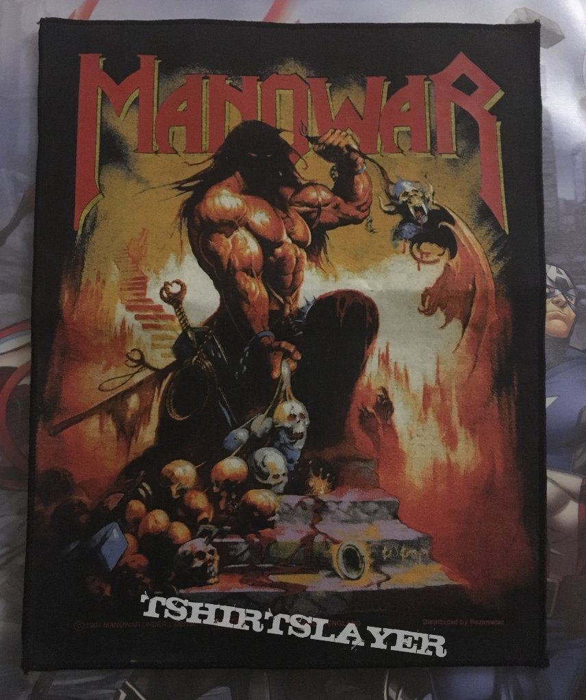Back Patch Manowar Agony and Ecstacy