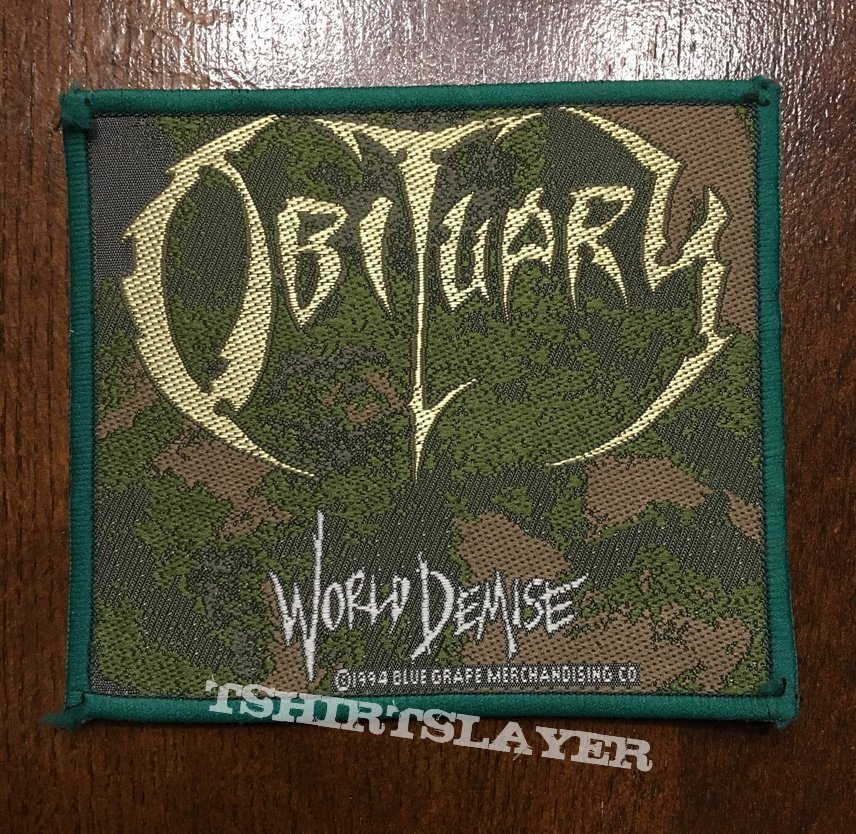 Patch Obituary World Demise green border