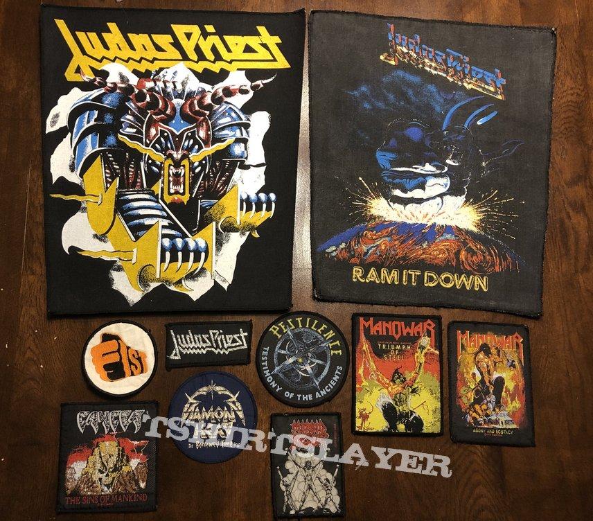 New Arrivals patches Judas Priest Manowar Diamond Head etc...