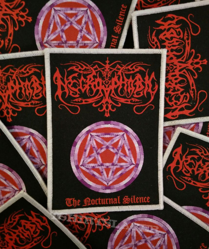 Necrophobic - The nocturnal silence woven patch.