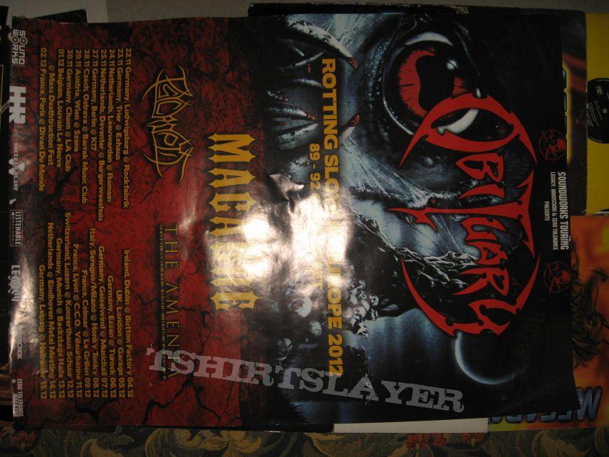 big Obituary tour poster