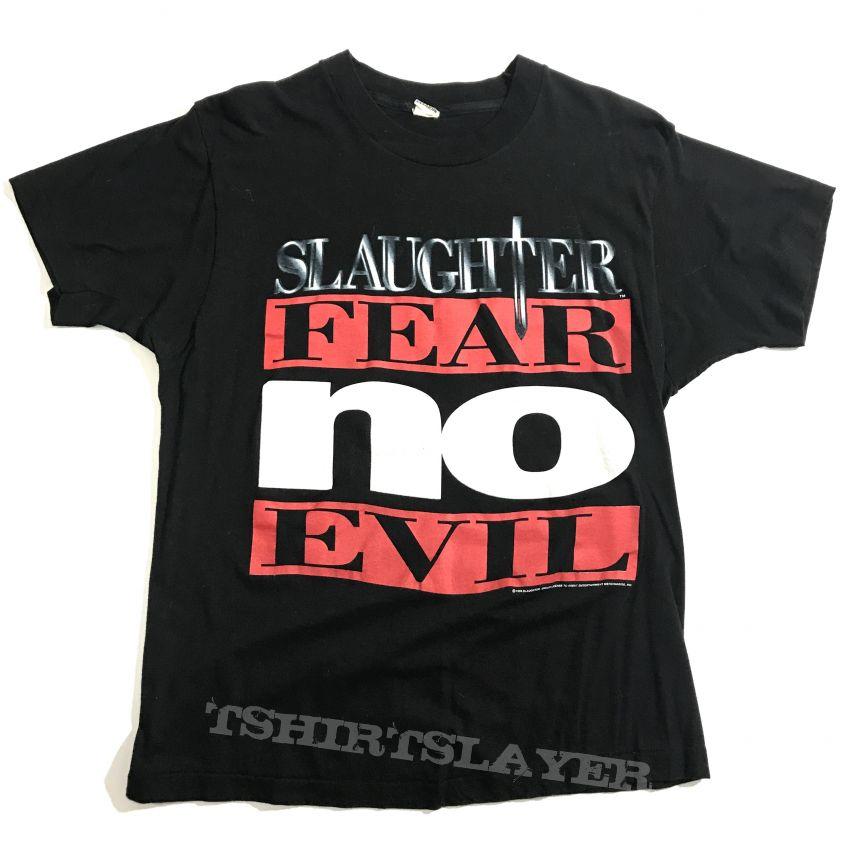©1995 Slaughter - Fear No Evil tour shirt