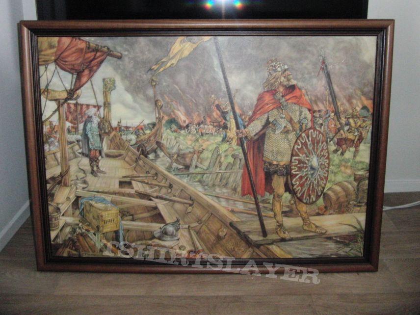 Old school board depicting Vikings
