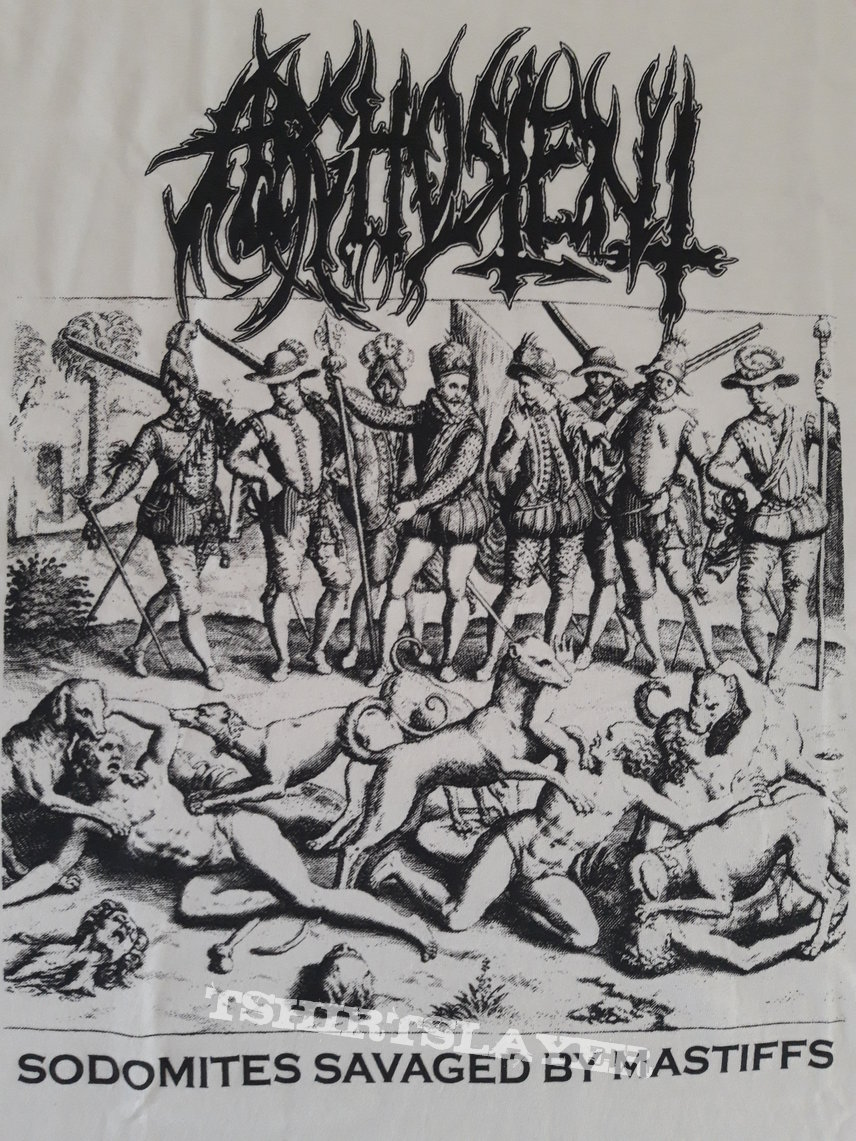 Arghoslent - Sodomites Savaged By Mastiffs tshirt