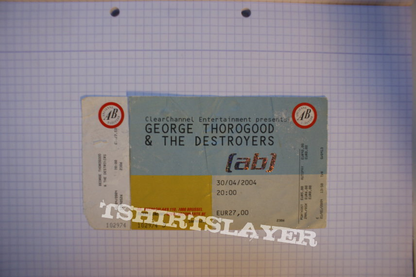 George Thorogood And The Destroyers Concert Ticket