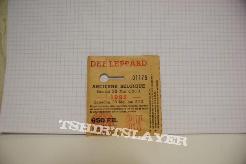 Def Leppard Concert Ticket