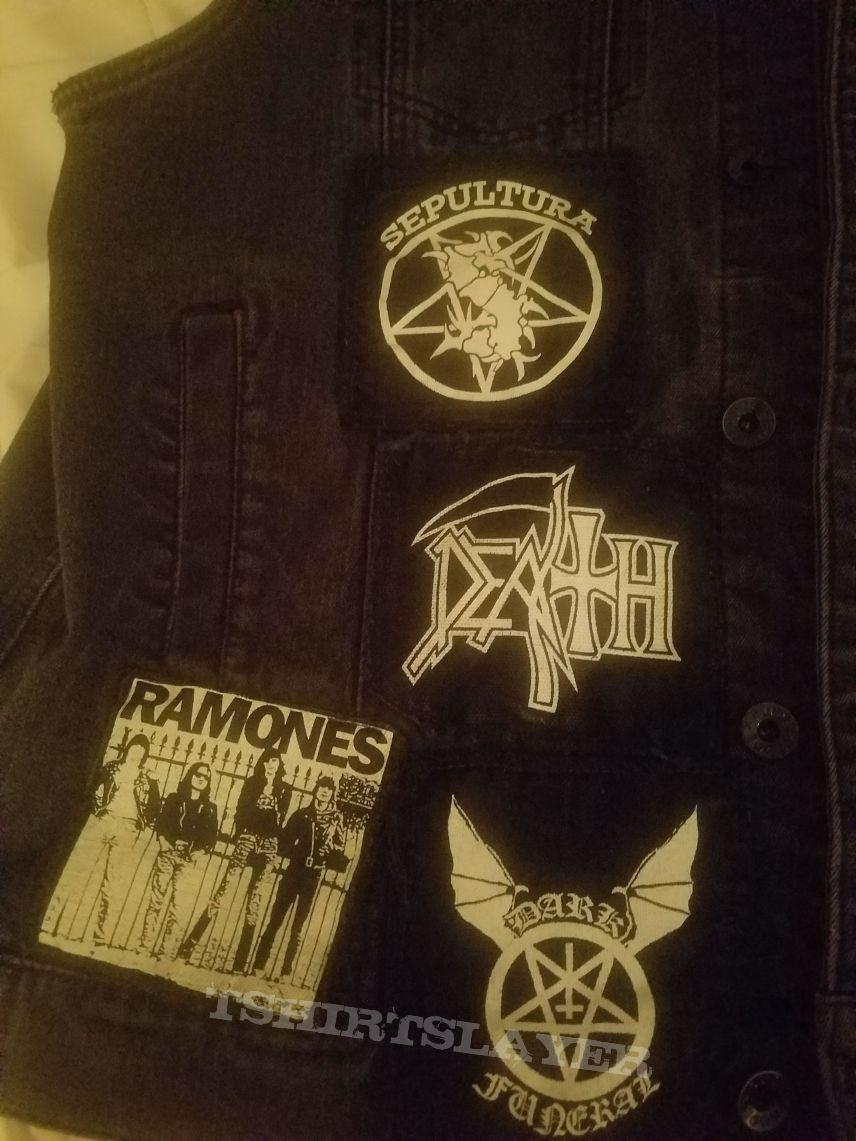 My old black denim vest