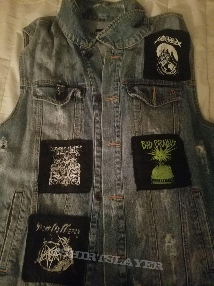 Blue denim battle vest (incomplete)