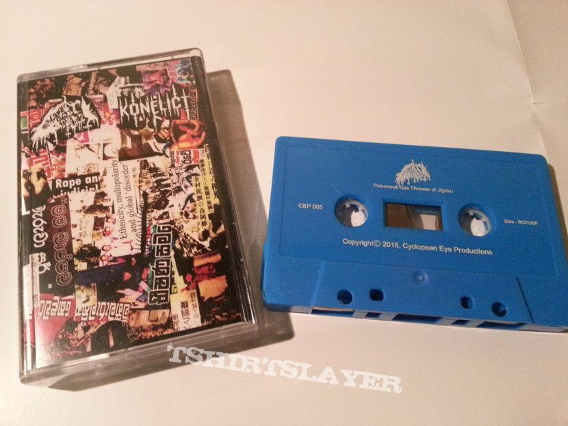 Konflict / Reek of the Unzen Gas Fumes – Conflict Is Control / Poisonous Gas Thrower Of Jigoku Cassette