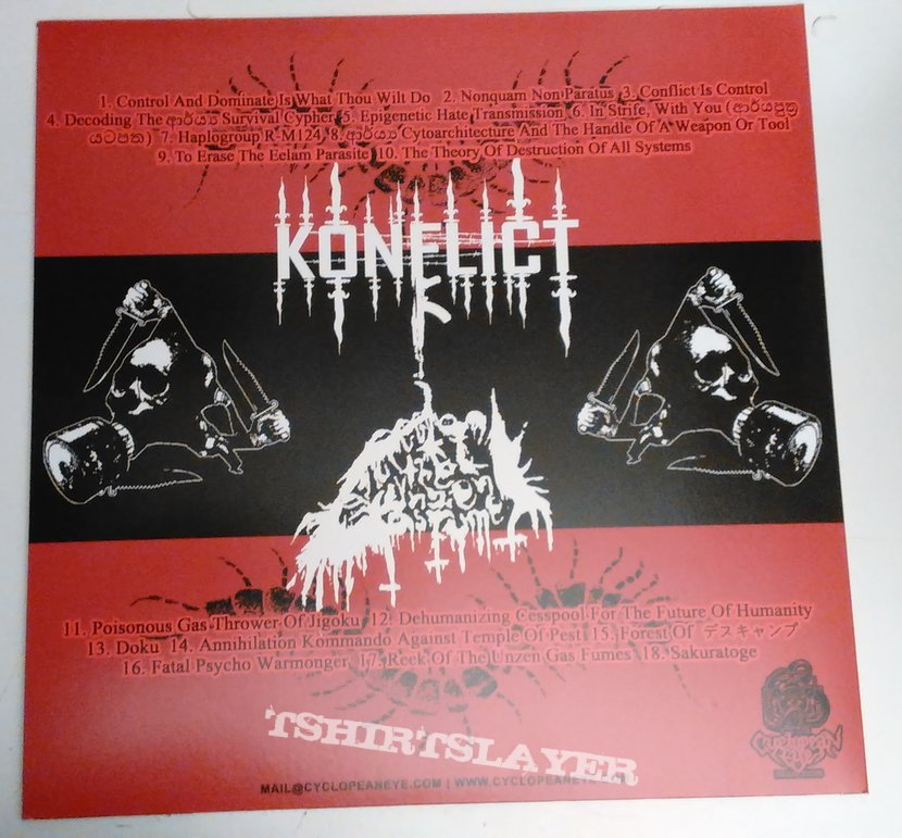 Konflict / ROTUGF ‎– Conflict Is Control / Poisonous Gas Thrower Of Jigoku LP