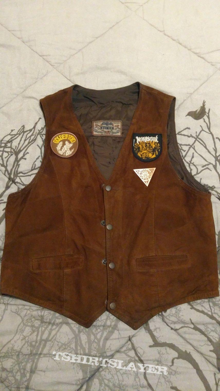 70's- suede waistcoat