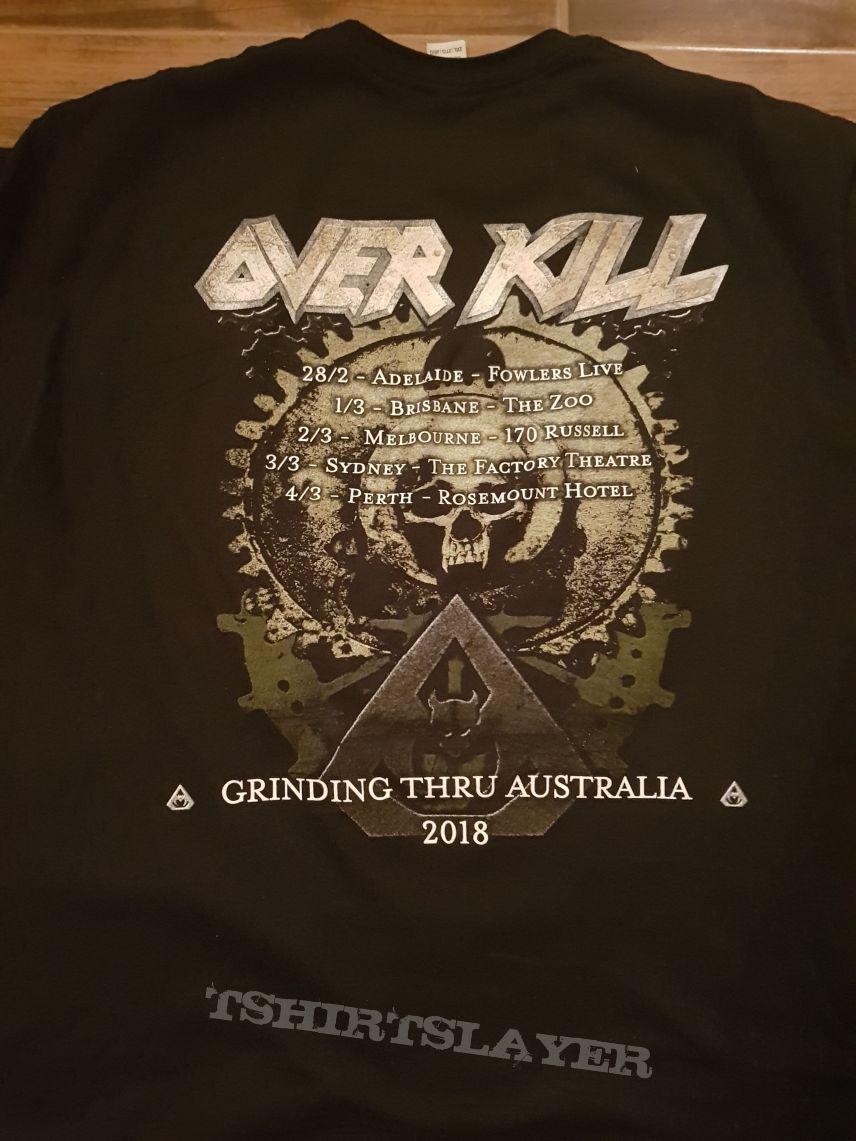 Overkill - The Grinding Wheel Australian Tour Shirt 2018