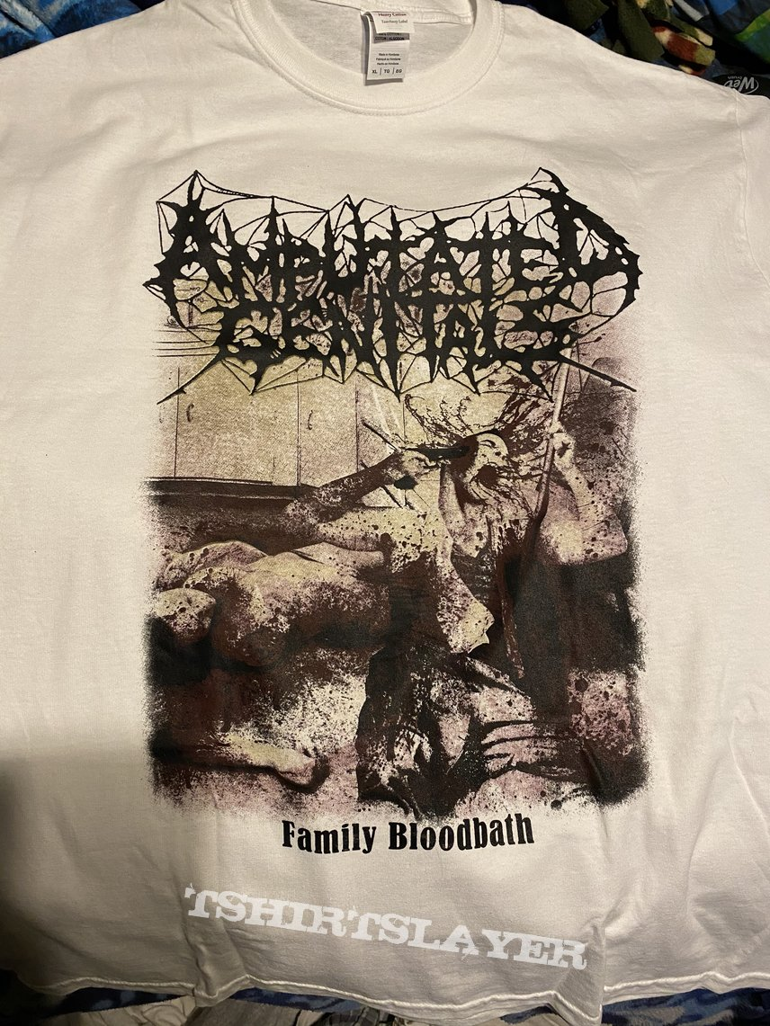 Amputated Genitals family bloodbath shirt