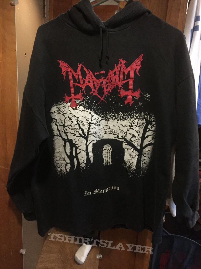 Mayhem in memorium / pure fucking armageddon hoodie