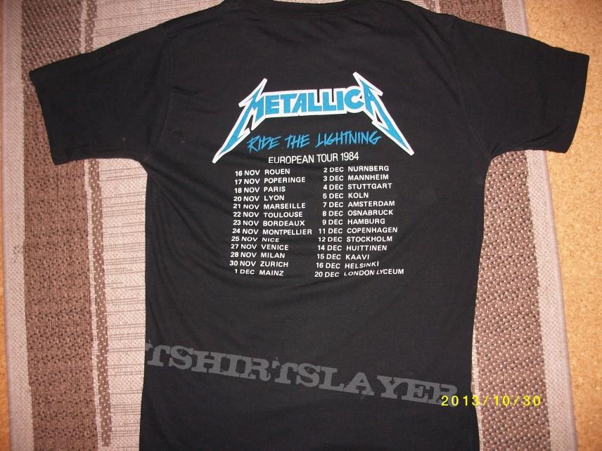 Metallica euro tour shirt