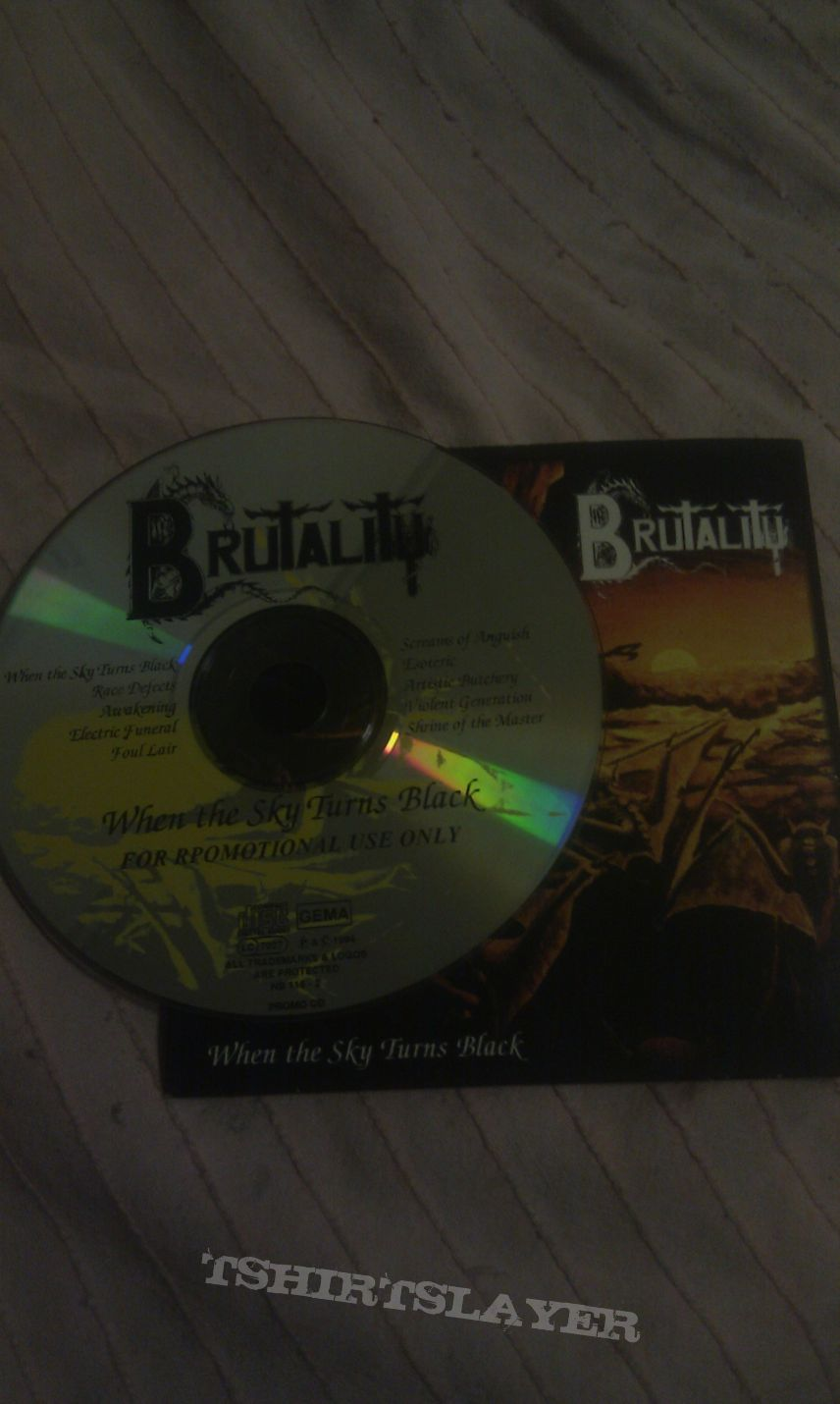 Brutality promotional  CD