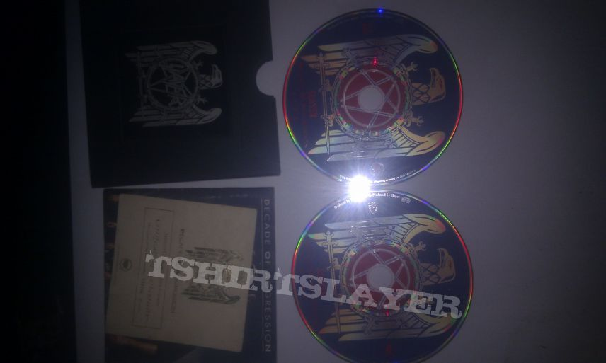 Slayer - Decade of aggression. limited commemorative metal box