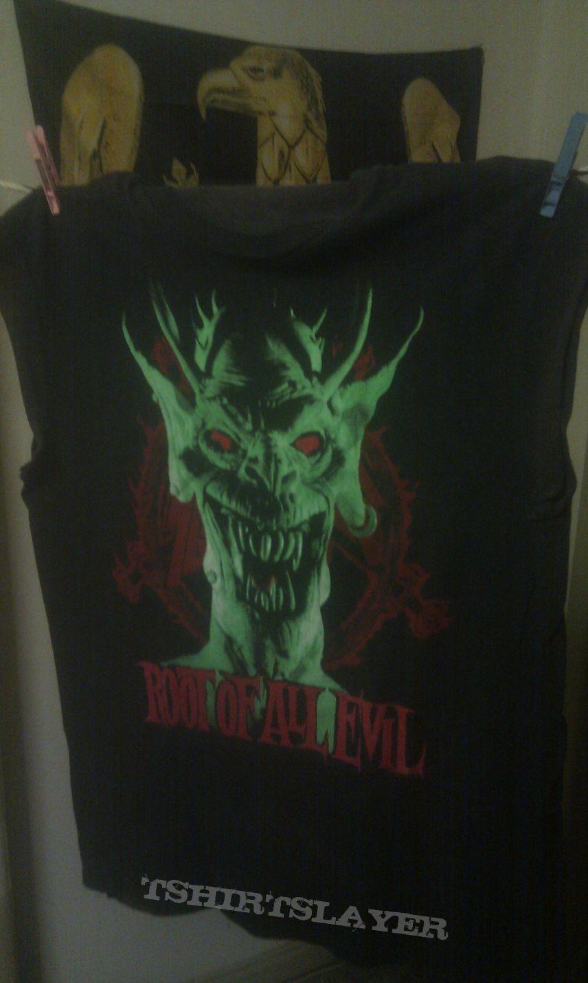 Slayer - Root of all evil / green demon muscleshirt