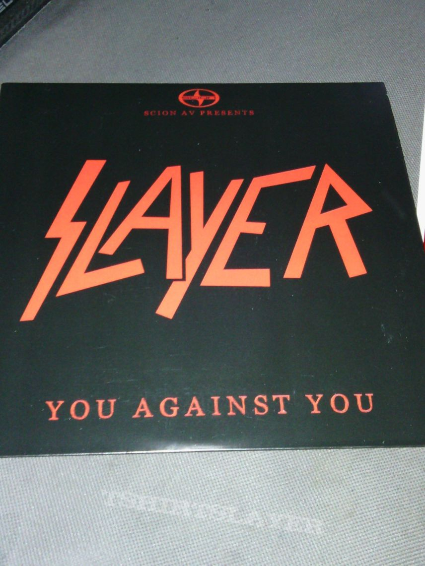 "Slayer - you against you 7"" promo"
