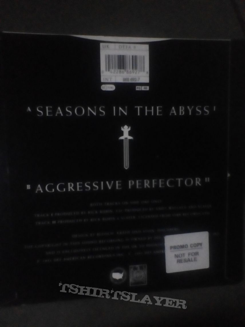 "Slayer - Seasons in the abyss 7"" promo"