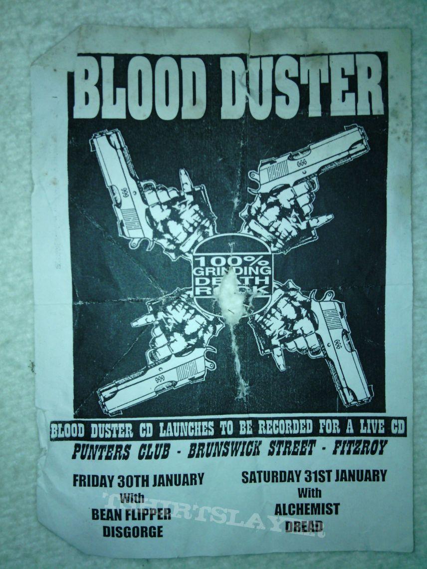 Blood duster aussie gig flyer